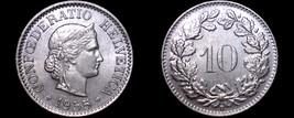 1955 Swiss 10 Rappen World Coin - Switzerland - $6.99