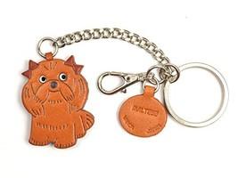Maltese Leather Dog Bag/Key Ring Charm VANCA CRAFT-Collectible Keychain ... - $51.72