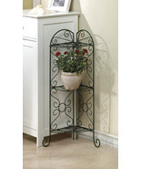 Corner Curio, Plant Stand with Three Shelves Antiqued Faux Verdigris  - £31.50 GBP