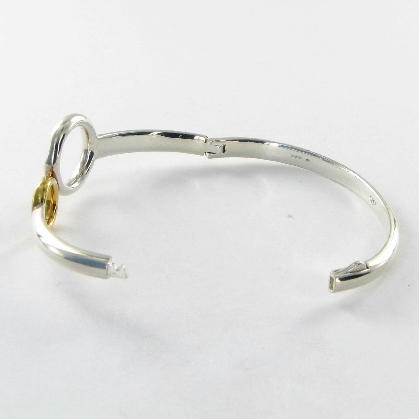 Links of London Duo Ring Bracelet 5012.0356 18k Yellow Gold Sterling New $850