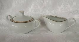 Sugar Creamer Set St. Regis Fine China Japan 102 Porcelain White Ivory G... - $14.85