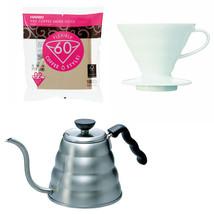 Hario V60 - 1.2 Liter Kettle, Porcelain Dripper, Spoon & 100 Filters - $81.17