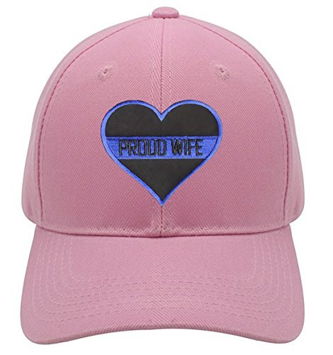 Thin Blue Line Proud Wife - Adjustable Pink Cap Womens