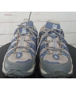 The North Face Women's Hiking Shoes Size 8 Gray Blue Hydro Track Low Top - $80.54