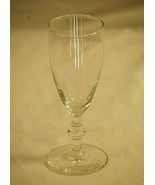 """Cordial Clear Glass UFO Stemmed Glass Classic Style 5-3/4"""" Tall Unknown ... - $14.84"""