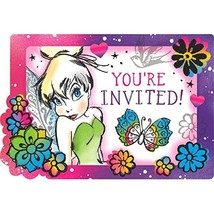 Tinker Bell Keep Flying Disney Fairy Birthday Party Invitations w/Envelopes - $7.17