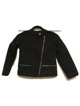 Youth Girls Gap Kids Quilted Moto Jacket Asymmetrical Zip Sz MD EUC - $19.77