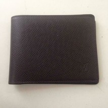 Authentic Louis Vuitton Burgundy Leather Mens Wallet 4.5in x 3.5in (MI1002) - $375.20