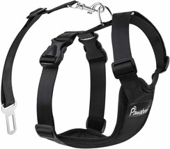 Pawaboo Dog Safety Vest Harness with Adjustable Strap and Buckle Clip, Size XL