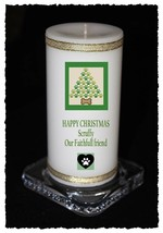 Christmas Candle for your Dog personalised Gift own message  | Cellini #8 - $15.64