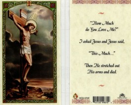How Much Do You Love Me? I Asked Jesus - Item EB064 - Laminated Prayer H... - $2.79