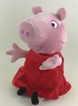 "Peppa Pig Hugs n Oink Talking Moving 10"" Stuffed Plush Toy Jazwares 2003 Tested - $24.91"