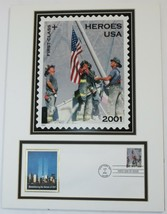 Remembering 9/11 NYFD Heroes USA Matted FDC Issue Envelope & Stamp - $19.75
