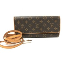 AUTHENTIC LOUIS VUITTON Monogram Pochette Twin GM Pochette Shoulder Bag ... - $425.00