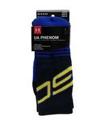 UNDER ARMOUR Steph Curry UA Phenom Socks sz M Medium (4-8.5) Black Blue ... - $24.99