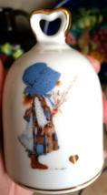 Vintage Holly Hobbie Blue Girl Porcelain Bell American Greetings Japan - $18.00
