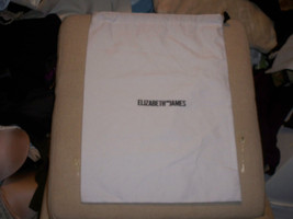 Designer Sleeper/ Dust Bag Huge Elizabeth and James White / Black Logo 1... - $7.91