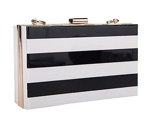 [Black White] Creative Acrylic Clutch Handbags Fashion Evening Bags Party Bag