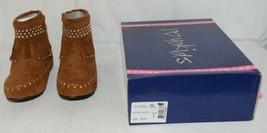 I Love Yo Kids AVA 78K Girls Fringe Boot Rust Silver Studded Size 1 image 1