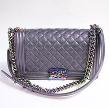 Chanel Iridescent Purple Le Boy Medium  Rutheni... - $10,395.00