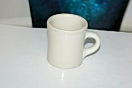 Victor Insulator Restaurant Diner Ware Heavy Coffee Mug Cup Off-White 1950 - $22.79