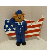 """Rudolph & Me """"US Air Force Bear & Flag"""" Personalizable Ornament New Old ... - $12.98"""