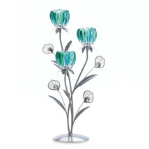 Flower Candle Stand, Decorative Tall Metal Candle Holders Colored Set - $36.99