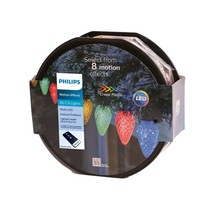 Philips 80ct Christmas LED Spool 8 Function Faceted C9 String Lights image 1