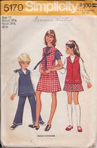 Simplicity 5170 Girls' Jumper, Tunic, Pants & Skirt - $2.00