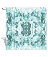 Shower curtains modern art shower curtain Abstract 20 turquoise aqua by ... - $69.99
