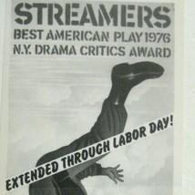 Streamers FLYER Broadway Theatre 1976 David Rabe Shakespearean Festival - $98.99