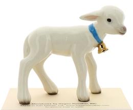 Hagen-Renaker Miniature Ceramic Lamb Figurine Large White with Bell image 2