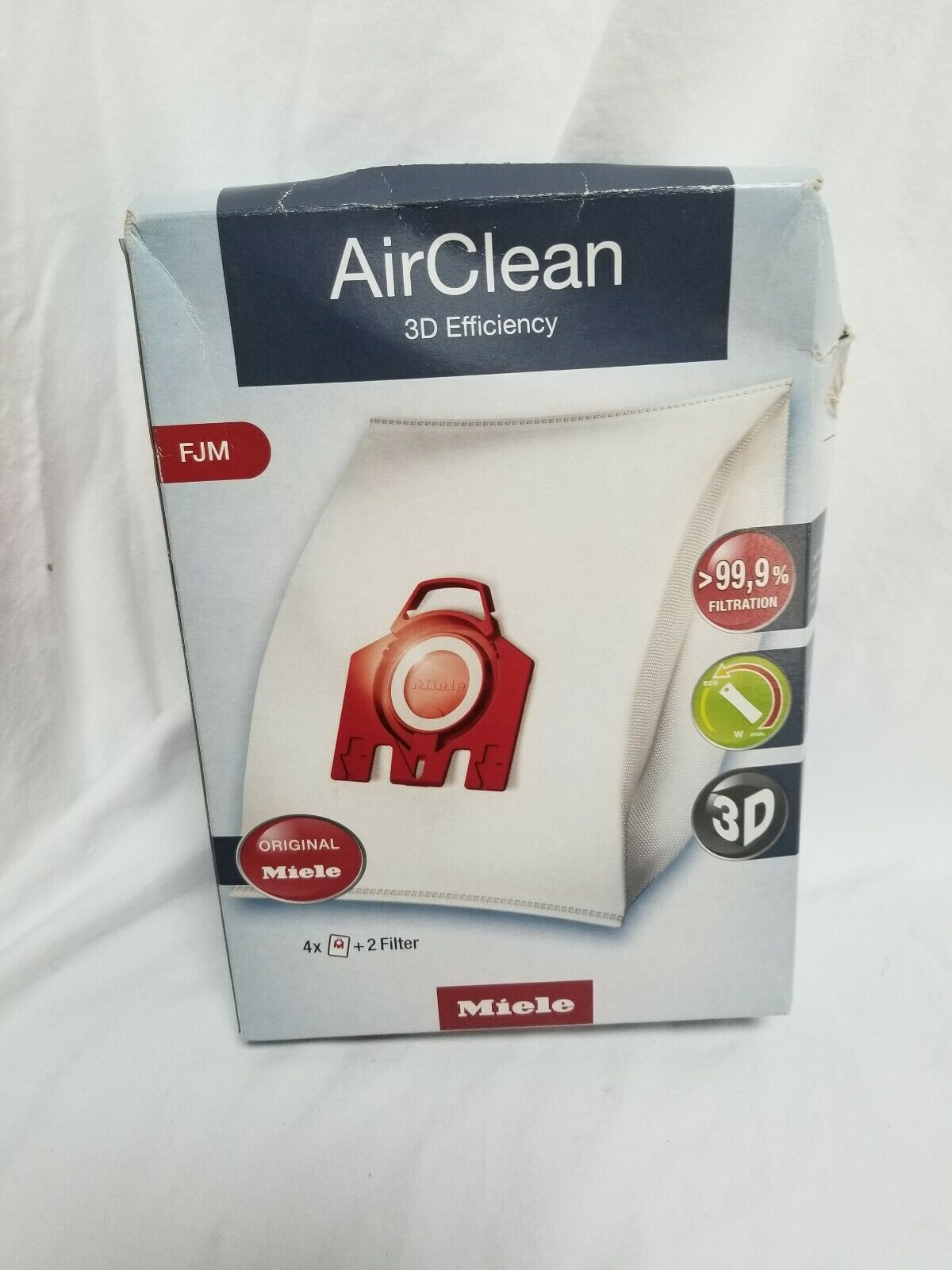 Miele Type FJM Vacuum Cleaner Bag AirClean 3D Efficiency Canister Bags - $13.85