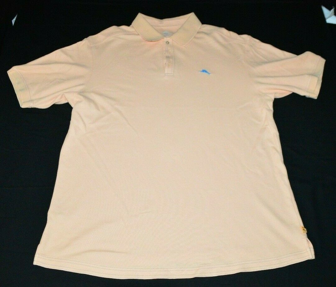 Primary image for Tommy Bahama Pink Peach Polo Golf Shirt Short Sleeve Mens XL 100% Supima Cotton
