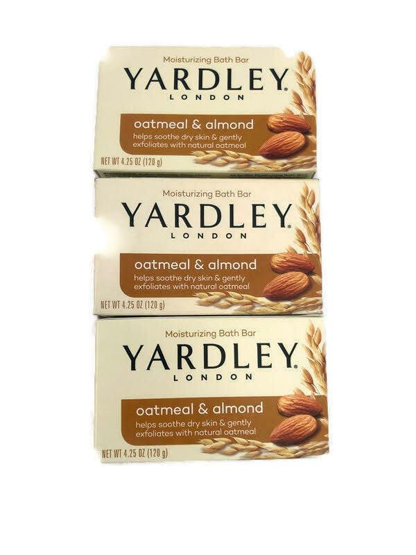 Yardley London Moisturizing Oatmeal & Almond Bar Soap 3-pack each 4.25 oz - $15.99