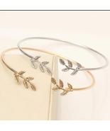 Fashion Luxury Charm Bracelet For Women Girls  Leaves Open Bangle  Gold ... - $13.00+