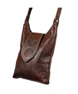 Moroccan Vintage Leather Bag, Shoulder Bag, Leather Handbag, Handmade Bag - $54.95