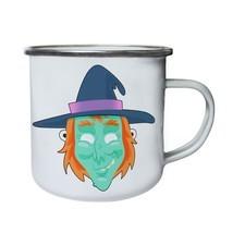 Funny Scary Witch Mask Retro,Tin, Enamel 10oz Mug r574e - $13.13
