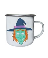 Funny Scary Witch Mask Retro,Tin, Enamel 10oz Mug r574e - $13.13