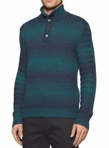NEW MENS CALVIN KLEIN SPACE DYED 3 BUTTON PULLOVER SWEATER L 401S399 - $29.99