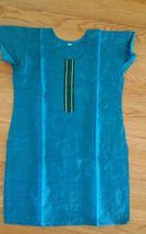 Women's Cotton Silk Blend Blue Tunic Shirt Blouse Top  Size M  NWOT - $13.37