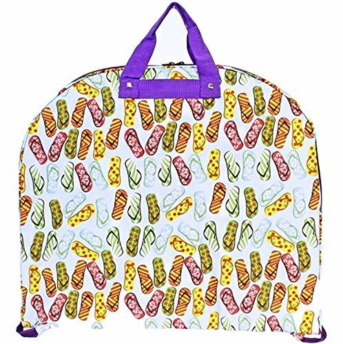 Flip Flops Print Garment Bag Travel Luggage