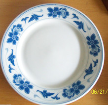 Blue Floral Dinner Plate GUOGUANG china star  chinese  Restaurant  ware - $19.80