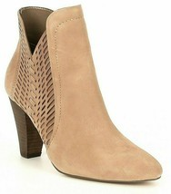 Women Vince Camuto Rotiena Suede Laser Cut Booties, Multi Sizes Wild Mushroom VC image 1