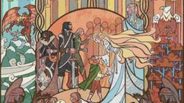 """LOTR Counted Cross Stitch  - WoW and Lotr Stained Glass 35.43""""X17.21"""" L947 - $3.99"""