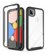 Google Pixel 4a 5G Case with Tempered Glass Screen Protector Included Hy... - $14.84