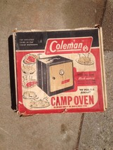 vintage COLEMAN Campstove folding OVEN - Outdoor Camping Stove, Cooking Baking - $68.31