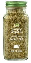 Simply Organic, Organic Savory Herb, Turkey Rub, 2.43 oz (69 g) - $13.25