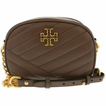 TORY BURCH Kira Chevron Small Camera Crosbody Shoulder Bag Taupe Authentic - $278.00