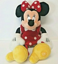 "Disneys Minnie Mouse 20"" Plush Stuffed Animal Red Polka Dot Dress Yellow... - $19.34"